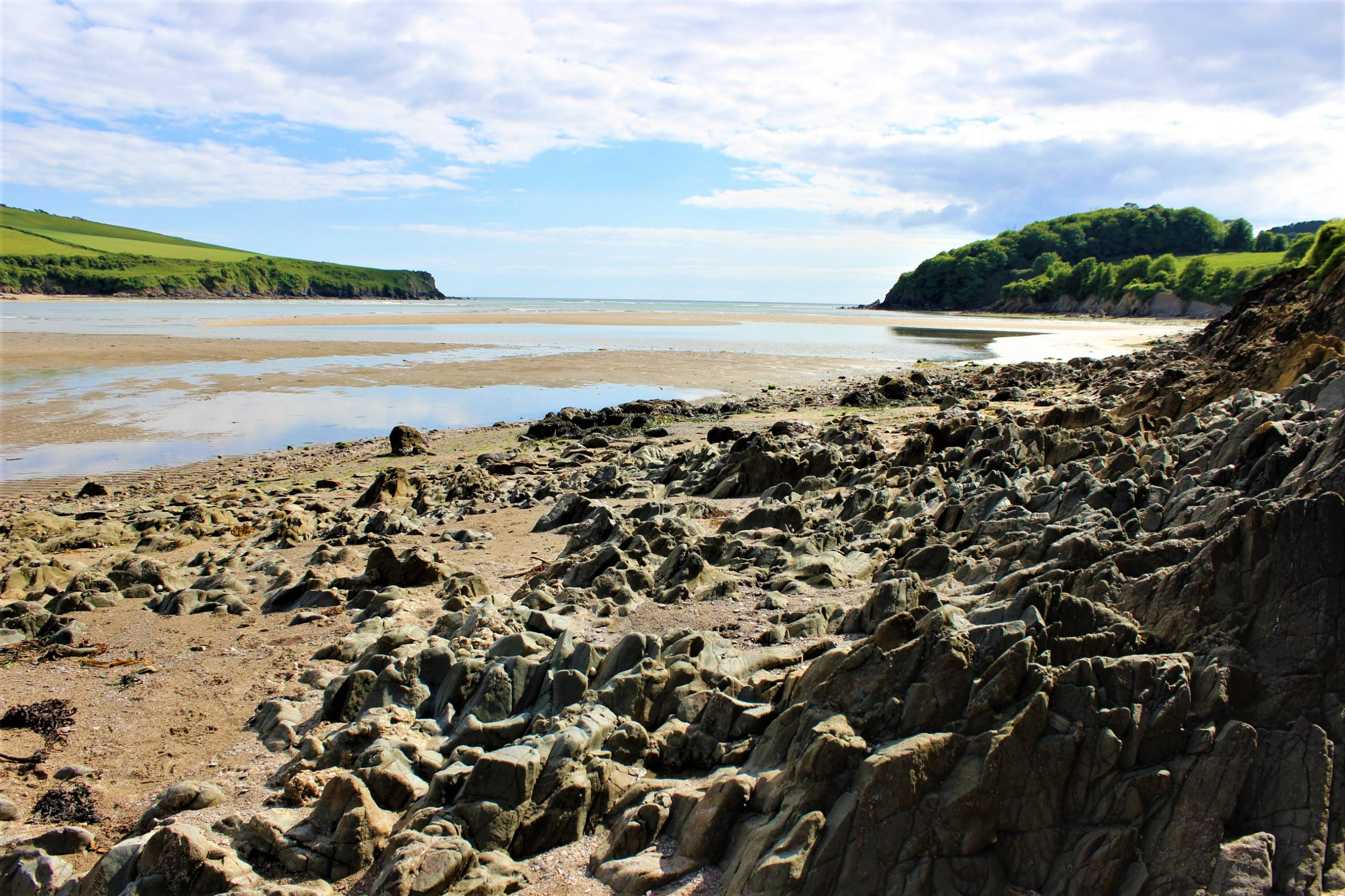 EgoSumArt visits Mothecombe Beach, South Hams