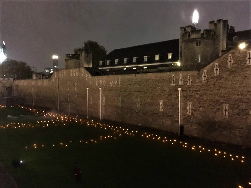 Tower of London Remembrance Flames