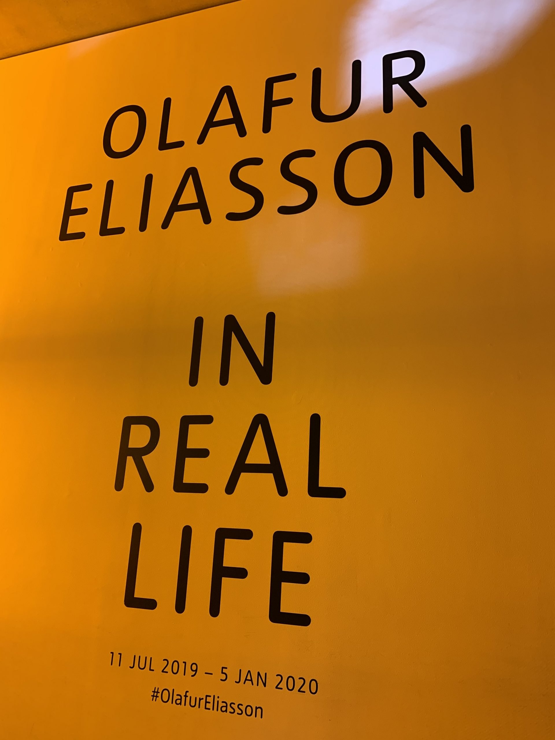 EgoSumArt visits Olafur Eliasson: In real life at the Tate Modern, London